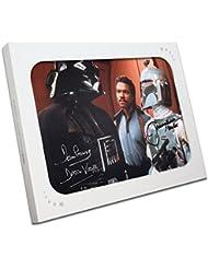 Boba Fett y Darth Vader Foto firmada En caja de regalo
