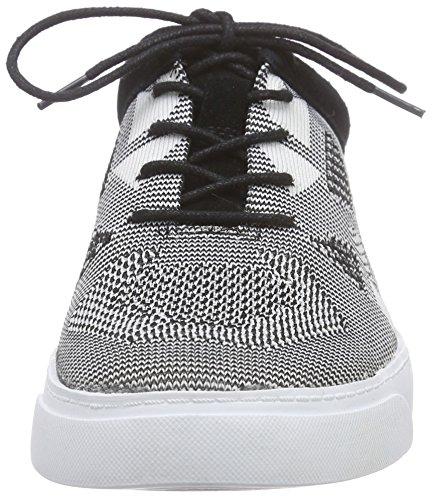 Clarks Glove Glitter, Sneakers basses femme Noir (Blk/White)