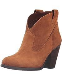 Westernwear-Shop Western Old Style Damen-Stiefelette Antonia Cowboystiefel BZW. Cowboy Boots & Bikerstiefel Westernstiefel Stiefeletten für Frauen BZW. Damen (39) Braun