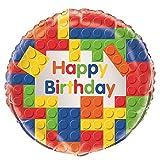 Unique Party 58247 - 18 Foil Building Blocks Birthday Balloon