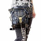 FiveloveTwo Pelle Tattico Leg Vita Pack Borsa a Tracolla Mano Messenger Viaggio Ciclismo Trekking Sacchetto Borsetta Marsupi Sportivi per Donna Uomo