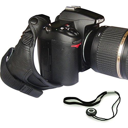 First2savvv OSH0901G14 Professionelle Leder Hand Grip Kamera Handschlaufe für Nikon D4S SONY A77 II SAMSUNG Galaxy NX WB1100F NX1 NX30 panasonic LUMIX DMC-FZ1000EB DMC-FZ200 LUMIX DMC-FZ70 Sony Alpha 77 M2 DSLR ILCA-77M2 Alpha 77 M2 DSLR ILCA-77M2Q a7S ILCE-7S PENTAX K-r Pentax K-30 K-5 II K-5 Iis K-3 X5 645D 645 Z Canon EOS 7D Mark II PowerShot SX60 HS EOS 7D Mark II PowerShot SX60 HS Nikon D750 mit Objektivdeckel Seil - Kameratasche Für Wb1100f Samsung Die