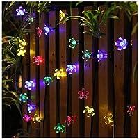 Cuerda Luminosa de 22 Pies (50 Luces Led) Panpany con Alimentación Solar, Luces Decorativas de Fiesta Impermeables para Jardín, Patio, Hogar, Árbol de Navidad y Fiestas