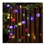 Panpany Solar Lights Outdoor, 50 LED Solar String Lights, Waterproof 22 Feet Fairy Lights Solar Powered (Multi-Color)