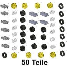 LEGO City - Ruedas con ejes y llantas (50 piezas)