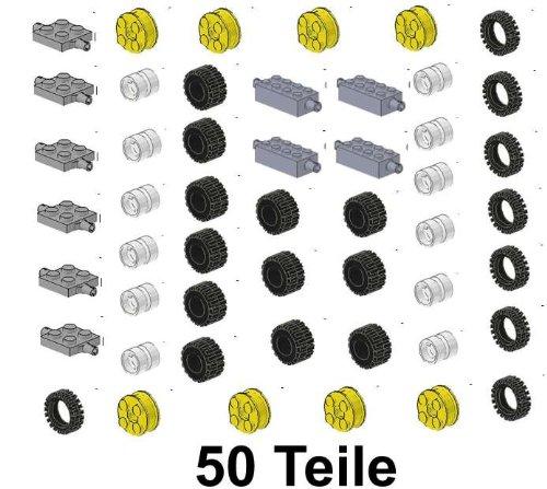 LEGO City Rädersatz 50 Teile wie Bild Ersatzteile (Räder Lego)