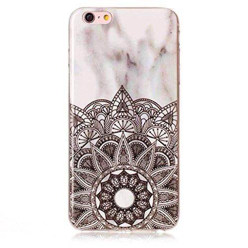 """Coque pour Apple iPhone 6S Plus / 6 Plus , IJIA Transparent Motif Marbre Rose TPU Doux Silicone Bumper Case Cover Shell Housse Etui pour Apple iPhone 6S Plus / 6 Plus (5.5"""") (MM18) YH74"""