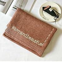 Invierno caliente lana hecha punto bufanda de color sólido , A