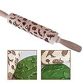Seawood Kürbis-Roller, Fledermaus-Spinne, zum Backen von Keksen, Teigroller, 5 cm x 38 cm, schönes Halloween-Muster, einfach zu verwenden, holz, multi