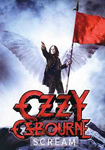 Ozzy Osbourne - Scream - poster drapeau - 100% Polyester - Taille 75 x 110 cm