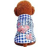 Cutogain Klassische Haustier Hund Kleidung Teddy mit Hunde-T-Shirt Weste-T-Shirt Haustier-Zubehör