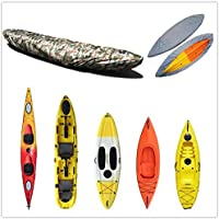 RenxinU Kayak Deposito UFO Cubierta Canoa Kayak Funda Protectora Impermeable para pequeño Barco Skiff 4,1–4,5m
