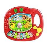 Sannysis® Niños Musical Animal piano; Juguete Música del Desarrollo (Rojo)
