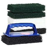 Woca Padhalter mit Handgriff für Pads inkl. 6 Superpads 15cm - 2 schwarze Reinigungspads, 2 grüne Massierpads, 2 Polierpads weiß, inkl. Anleitungen von bioraum