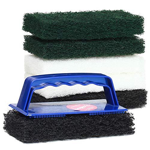 Padhalter mit Handgriff für WOCA Anwendungen inkl. 6 Superpads 15cm - 2 schwarze Reinigungspads, 2 grüne Massierpads, 2 Polierpads weiß, inkl. Anleitungen von bioraum