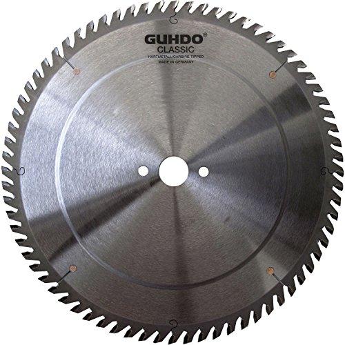 Guhdo HW Lame de scie circulaire 250 x 3,2 Alésage Diamètre : 30 mm/48 dents DH/fabriqué en Allemagne