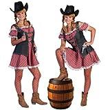 Cowgirl Nathalie Kleid Kurz für Damen Gr. 36 38 - Tolles Wild West Kostüm
