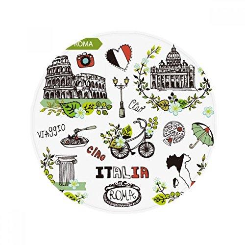 DIYthinker Spring Colosseum Roma Italien Graffiti Anti-Rutsch Boden Pet Matte rund Badezimmer Wohnzimmer Küche Tür 80cm Geschenk