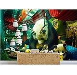 3D Fototapete Handgemalte Kreative Wohnzimmer Schlafzimmer Tapeten Tier Tv Hintergrund, 430X300 Cm (169.29X118.11 In)