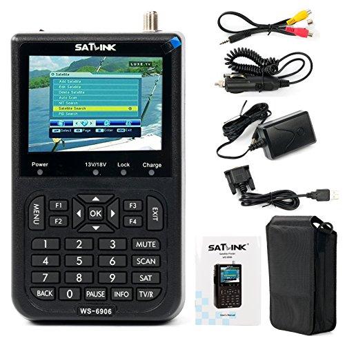 Satlink WS 6906   Localizador digital de señal de satélite (pantalla 3.5