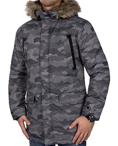 JACK & JONES Herren Jcoland Parka Jacket Camp Schwarz Camouflage (Black Camouflage Detail:GREY)