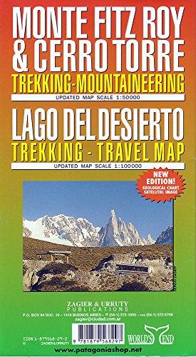 Monte Fitz Roy y Cerro Torre 1:50.000. Mapa excursionista. Zagier.