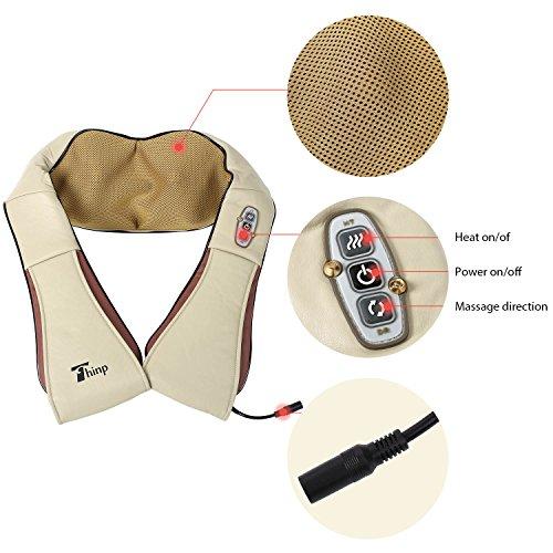 Thinp Massagegerät Nackenmassagegeräte Shiatsu für Nacken, Schulter, Rücken im Auto und Zuhause -