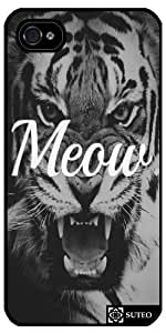 Coque Iphone 4/4S – Tigre Meow - ref 724