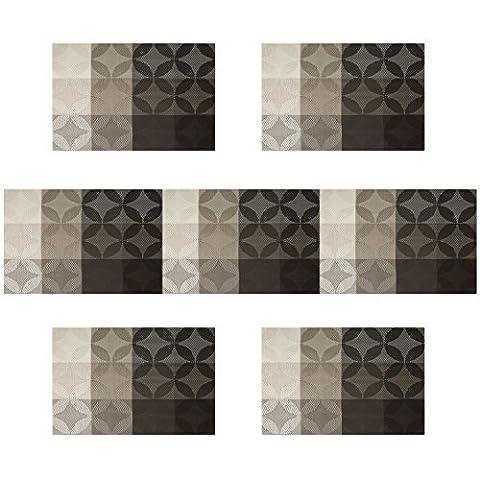 Placemats for kitchen table, U'Artlines Vinyl Insulation Elegance Simple Placemat