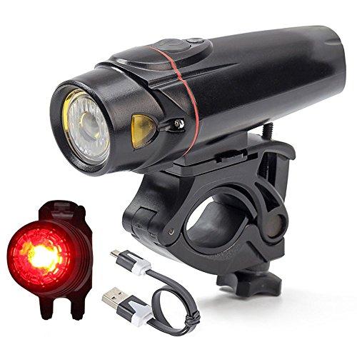 wittorch Bike Lights Set Smart Sensoren LED Fahrrad Licht Wasserdicht USB wiederaufladbar Vorderlicht Rücklicht (rot), Radfahren Taschenlampe Lights Sets (2.200mAh-Lithium-Akku, 4Licht-Modus Optionen)
