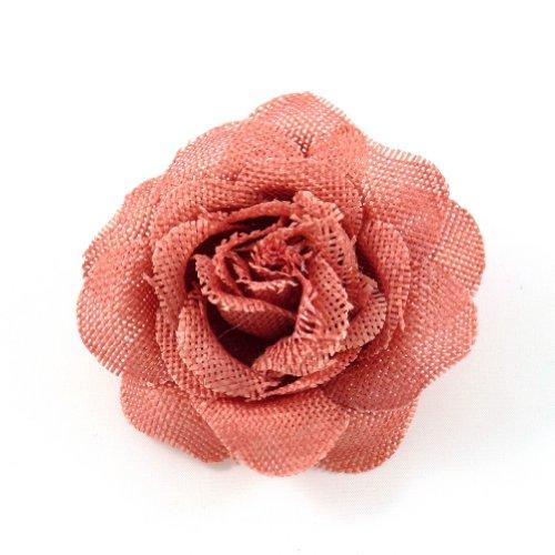 rougecaramel - Accessoires cheveux - Broche fleur mariage ou pince cheveux en sisal - saumon