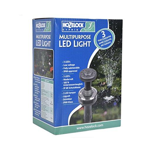 Hozelock Tricoflex 3086 1240 LED éclairage de Bassin, Noir, 18,5 x 13 x 9,5 cm