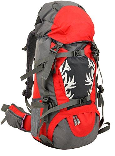 Sport All'aria Aperta Borse Per Alpinismo Grande Capacità Selvatici Campeggio Zaino Borsa Da Equitazione Professionale Impermeabile Escursioni Zaino Multifunzionale. Multicolore Red