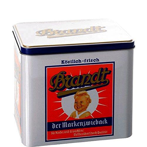 Nostalgie-Dose Weißblech abnehmbarer Deckel 19;5 x 15 x 18 Brandt BUTLERS