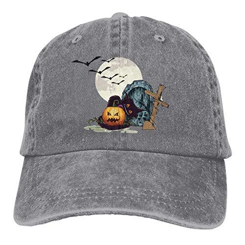 loween Pumpkin Unisex Washed Adjustable Vintage Cowboy Hat Denim Baseball Caps Multicolor40 ()