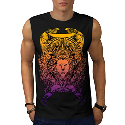 King Animal Lion Face Mad Men M Ärmelloses T-Shirt | Wellcoda (Men-anzug Mad)