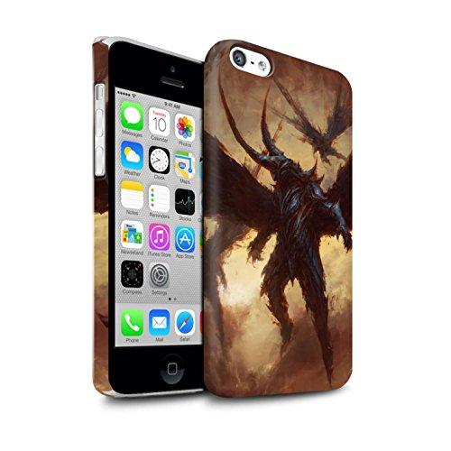 Offiziell Chris Cold Hülle / Matte Snap-On Case für Apple iPhone 5C / Ungeheuer/Troll Muster / Wilden Kreaturen Kollektion Flügel von Nox