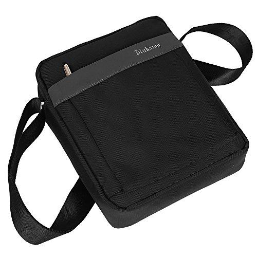 EGOGO Umhängetasche Schultertasche Aktentasche Messenger Cross Body Bag Satchel Bag E407-3 (Grau + Schwarz) Grau + Schwarz