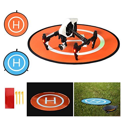 BelleStyle Drone Landing Pad, 75cm Impermeable y Plegable Helipuerto Protector Pista Aterrizaje para Helicóptero RC Drones, PVB Drones, dji Mavic Pro Phantom 2/3/4/Pro, Antel Robotic, 3DR Solo y más