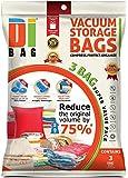 DIBAG  -Set of 3 Vacuum Storage Space Saving bags 91x124 cm.