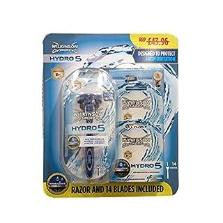 Wilkinson Sword Hydro 5 Shaving Set - Includes 14 Blades  (B004LG7FC0)   Amazon price tracker / tracking, Amazon price history charts, Amazon price watches, Amazon price drop alerts