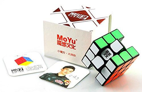 MoYu Weilong GTS2 V2 magischer Würfel BY-Romance Zauberwürfel 3x3x3 Geschwindigkeitswürfel Wettkampfwürfel (Schwarz) (Persönlicher Rekord-spieler)