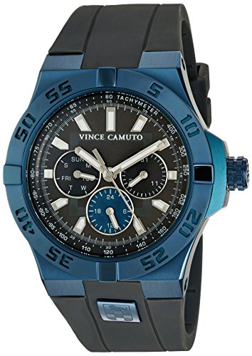 vince-camuto-mens-vc-1010dgnv-the-master-navy-blue-accented-multi-function-grey-silicone-strap-watch