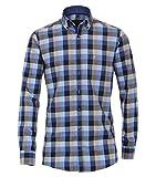 Casa Moda - Comfort Fit - Flanell Herren Hemd kariert mit Button Down-Kragen (483090600), Größe:XL, Farbe:Blau (101)