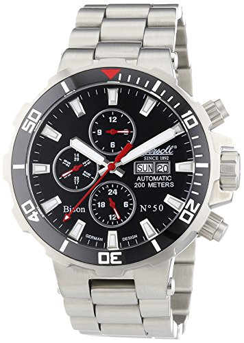 Ingersoll Herren-Armbanduhr XL Chronograph Automatik Edelstahl IN1314BKMB