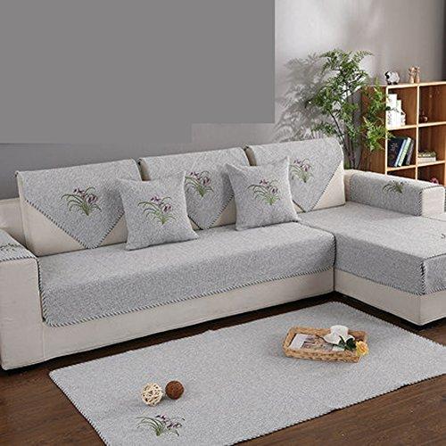 Sofaüberwurf Baumwolle Couchbezug Rutschfeste Couchbezug,Maschine Waschbar, Sofa-Schild für 1 2 3 4 Sofa,1 stück-A 90x210cm(35x83inch) (Stück 3 Sofa Stuhl Loveseat)