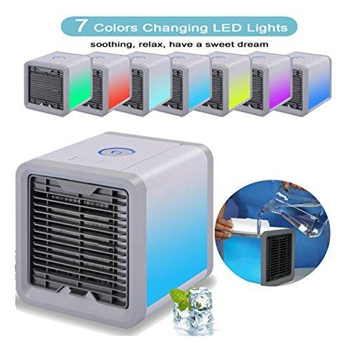 Air Conditioner Refroidisseur D'air pour Bureau/Maison/Camping Car/Garage/Chambre, Charge avec USB Ventilateur Portable Bureau pour purificateur humidificateur