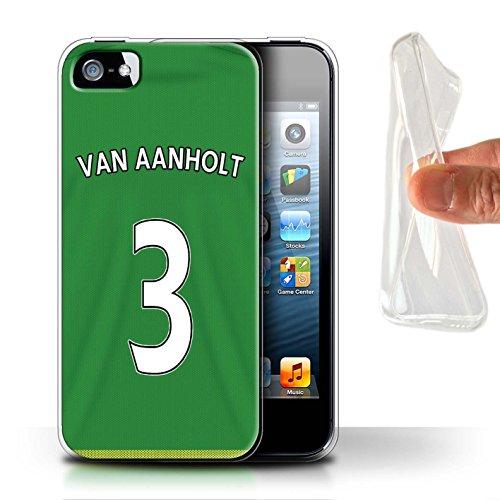 Offiziell Sunderland AFC Hülle / Gel TPU Case für Apple iPhone SE / Pack 24pcs Muster / SAFC Trikot Away 15/16 Kollektion Van Aanholt