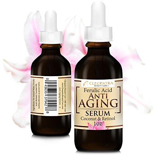 Cleopatra+Beauty+Care Anti Aging Facial Serum Retinol + Ferulic Acid + Virgin Coconut Oil Hydrates and Replenishes Skin From Cleopatra Beauty Care