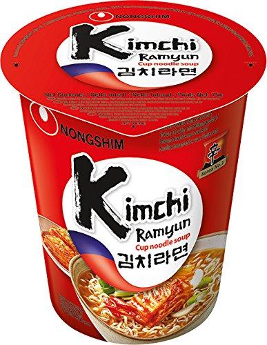 Nong Shim Kimchi Ramyun Noodle Soup - 12 Coupes